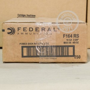 "Picture of 16 GAUGE FEDERAL POWER-SHOK 2-3/4"" GRAIN RIFLED SLUG (5 ROUNDS)"