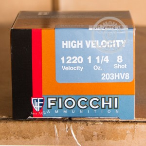 Picture of 20 GAUGE FIOCCHI OPTIMA 3 INCH 1-1/4 OUNCE # 8 SHOT LEAD (25 ROUNDS)