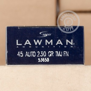 Picture of .45 ACP SPEER LAWMAN 230 GRAIN TOTAL METAL JACKET (1000 ROUNDS)