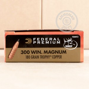 Picture of 300 WIN MAG FEDERAL VITAL-SHOK 180 GRAIN TROPHY COPPER POLYMER TIP (20 ROUNDS)