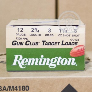 "Picture of 12 GAUGE REMINGTON GUN CLUB 2-3/4"" #8 SHOT (250 SHELLS)"