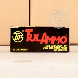 Picture of 223 REM TULA 55 GRAIN HP (40 ROUNDS)