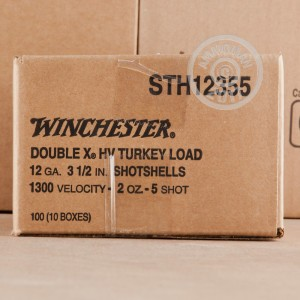 "Picture of 12 GAUGE WINCHESTER DOUBLE X 3-1/2"" 2 OZ. #5 COPPER PLATED HARD SHOT (10 ROUNDS)"