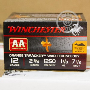 "Picture of 12 GAUGE WINCHESTER AA ORANGE TRAACKER 2 3/4"" 1 1/8 OZ. #7.5 SHOT (25 ROUNDS)"