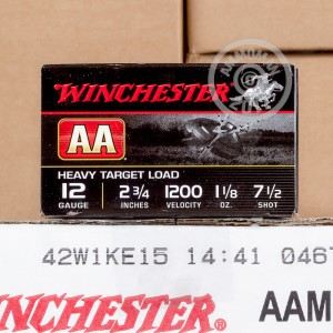 "Picture of 12 GAUGE #7-1/2 WINCHESTER AA  1-1/8 OZ 2-3/4"" (25 ROUNDS)"
