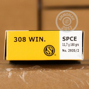 Picture of 308 WIN SELLIER & BELLOT 180 GRAIN SPCE (20 ROUNDS)