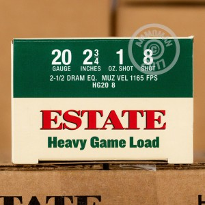 "Picture of 20 GAUGE ESTATE CARTRIDGE HEAVY GAME LOAD 2 3/4"" 1 OZ. #8 SHOT (25 ROUNDS)"