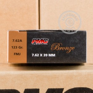 Image of 7.62 x 39 ammo by PMC that's ideal for training at the range.
