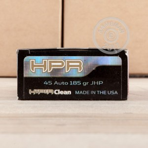 Picture of 45 ACP HPR HYPER CLEAN 185 GRAIN JHP (50 ROUNDS)