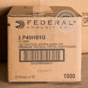 Picture of 40 S&W FEDERAL HYDRA SHOK 180 GRAIN JHP (1000 ROUNDS)