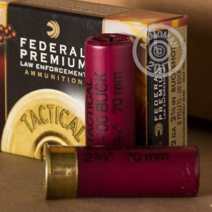 "Picture of 12 GAUGE 2-3/4"" FEDERAL TACTICAL 00 BUCKSHOT 8-PELLET (250 ROUNDS)"
