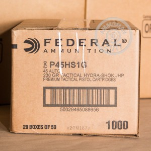 Picture of 45 ACP FEDERAL TACTICAL 230 GRAIN JHP (50 ROUNDS)