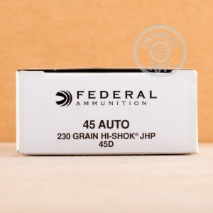 Picture of .45 ACP FEDERAL HI SHOK 230 GRAIN JHP (50 ROUNDS)