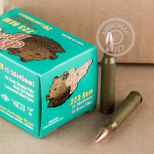 Picture of 223 REM BROWN BEAR 55 GRAIN FMJ (20 ROUNDS)