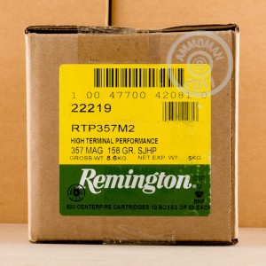 Picture of 357 MAGNUM REMINGTON HTP 158 GRAIN SEMI JACKETED HOLLOW POINT (500 ROUNDS)