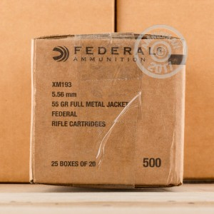 Picture of 5.56X45 FEDERAL AMERICAN EAGLE 55 GRAIN FMJ-BT (20 ROUNDS)