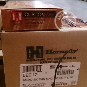 Picture of 300 WINCHESTER MAGNUM HORNADY CUSTOM LITE 150 GRAIN SST (20 ROUNDS)
