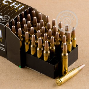 Image of 223 Remington ammo by Fiocchi that's ideal for shooting steel targets, training at the range.