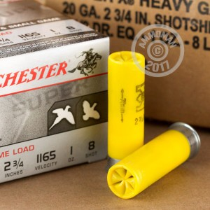 """Picture of 20 GAUGE WINCHESTER SUPER-X 2-3/4"""" #8 SHOT (250 ROUNDS)"""