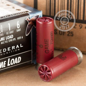 "Picture of 12 Gauge - 2-3/4"" 1 oz. #6 Lead Shot - Federal Game-Shok - 25 Rounds"