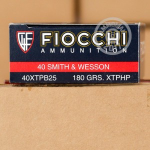 Picture of 40 S&W FIOCCHI XTP 180 GRAIN JHP (25 ROUNDS)