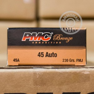 Picture of .45 ACP PMC BRONZE 230 GRAIN FMJ (1000 ROUNDS)