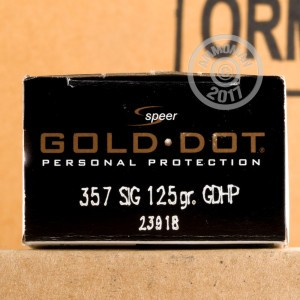 Picture of 357 SIG SPEER GOLD DOT 125 GRAIN HP (20 ROUNDS)