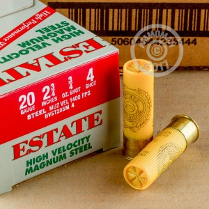 "Picture of 20 GAUGE ESTATE CARTRIDGE HV 2-3/4"" 3/4 OZ #4 STEEL SHOT (25 ROUNDS)"