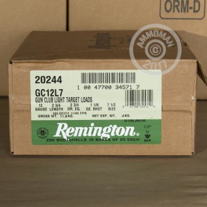"Picture of 12 GAUGE REMINGTON GUN CLUB 2-3/4"" #7.5 SHOT (250 SHELLS)"