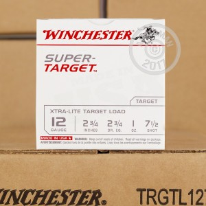 "Picture of 12 GAUGE WINCHESTER SUPER TARGET 2-3/4"" 1 OZ. #7-1/2 SHOT (250 ROUNDS)"
