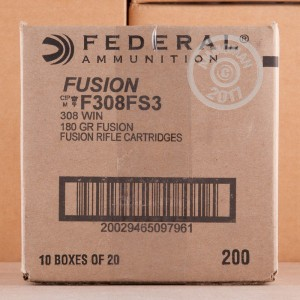 Picture of .308 WIN. FEDERAL FUSION 180 GRAIN (20 ROUNDS)