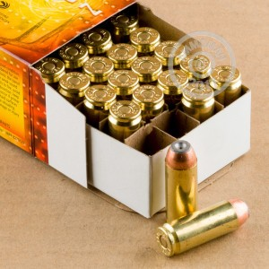 Image of 50 Action Express ammo by Federal that's ideal for hunting wild pigs, whitetail hunting.