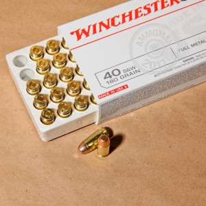 Picture of 40 S&W WINCHESTER 180 GRAIN FMJ (500 ROUNDS)