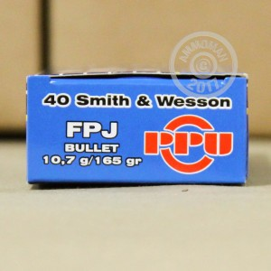 Picture of .40 S&W PRVI PARTIZAN 165 GRAIN FMJ (50 ROUNDS)