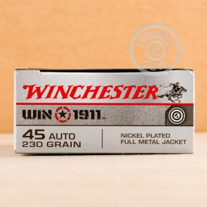Picture of 45 ACP WINCHESTER WIN1911 TARGET 230 GRAIN FMJ (500 ROUNDS)