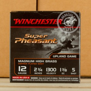 "Picture of 12 GAUGE WINCHESTER SUPER PHEASANT 2-3/4"" 1-3/8 OZ. #5 SHOT (250 ROUNDS)"