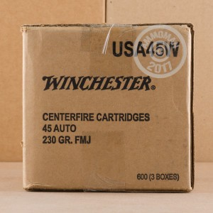 Picture of 45 ACP WINCHESTER RANGE PACK 230 GRAIN FMJ (600 ROUNDS)