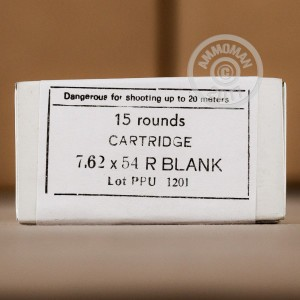 Picture of 7.62x54R PRVI PARTIZAN BLANK (EXTENDED CASE) (15 ROUNDS)