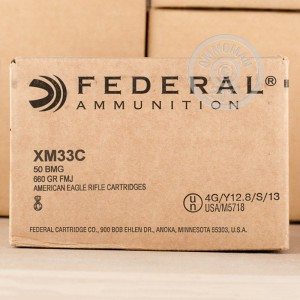 Picture of 50 BMG Federal American Eagle 660 Grain FMJ #XM33C (100 ROUNDS)