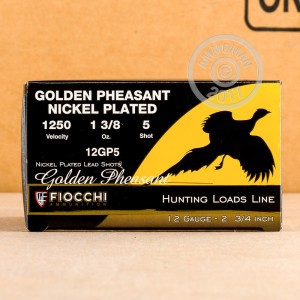 "Picture of 12 GAUGE FIOCCHI GOLDEN PHEASANT 2-3/4"" #5 NICKEL PLATED (250 ROUNDS)"