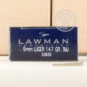 Picture of 9MM LUGER SPEER LAWMAN 147 GRAIN TMJ (50 ROUNDS)