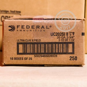 "Picture of 20 GAUGE FEDERAL ULTRA HEAVY FIELD & CLAY 2-3/4"" #8 SHOT (25 ROUNDS)"