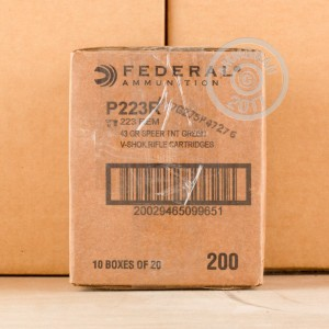 Picture of 223 REM FEDERAL V-SHOK 43 GRAIN SPEER TNT GREEN HP (20 ROUNDS)
