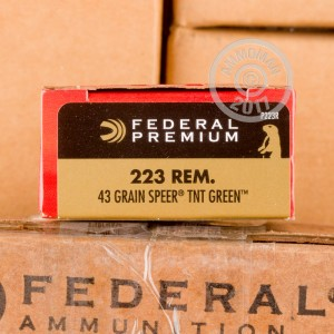 Picture of 223 REM FEDERAL V-SHOK 43 GRAIN SPEER TNT GREEN HP (200 ROUNDS)