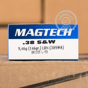 Picture of 38 S&W MAGTECH 146 GRAIN LRN (50 ROUNDS)