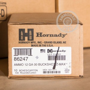 "Picture of 12 GAUGE HORNADY Z-MAX ZOMBIE 2-3/4"" 00 BUCK (250 SHELLS)"