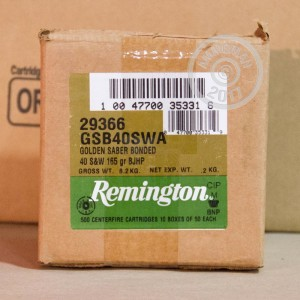 Picture of .40 S&W REMINGTON GOLDEN SABER BONDED 165 GRAIN JHP (50 ROUNDS)