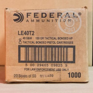 Picture of .40 S&W FEDERAL TACTICAL BONDED 155 GRAIN JHP (50 ROUNDS)