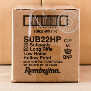 Picture of .22 LR REMINGTON 38 GRAIN HOLLOW POINT SUBSONIC (5000 ROUNDS)