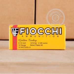 "Picture of 12 GAUGE FIOCCHI TURKEY LOAD 3-1/2"" GRAIN #6 (10 SHELLS)"